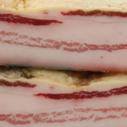 Spanish Iberian Acorn Fed Bacon salty
